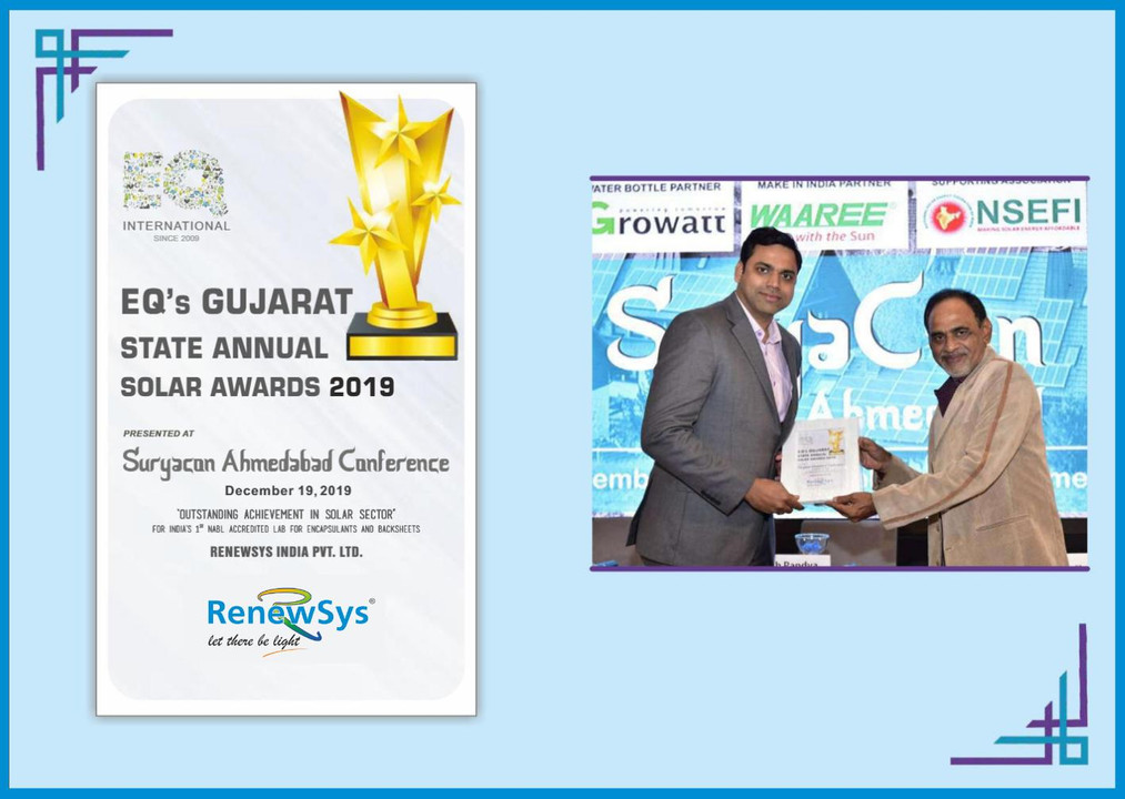 RenewSys recieves outstanding solar manu