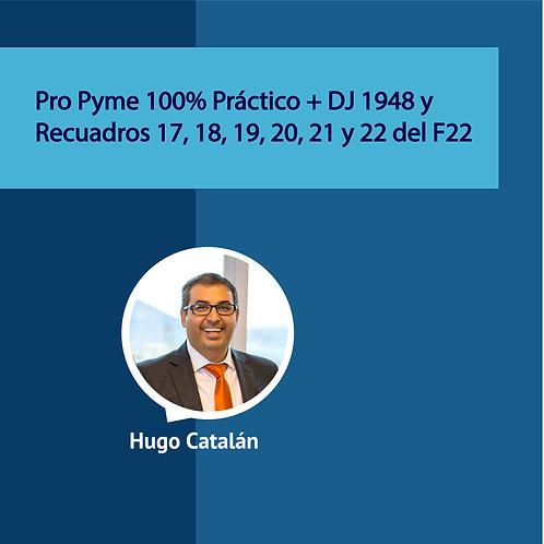 Pro Pyme 100% Práctico + DJ 1948 y Recuadros 17, 18, 19, 20, 21 y 22 del F22