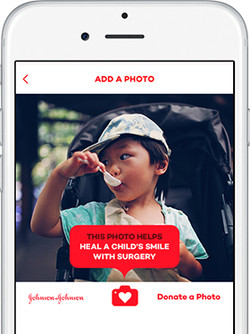 Donate-A-Photo by Johnson & Johnson