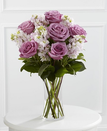 Vase Arrangement - Cool Purple
