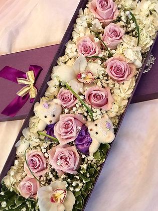 Long Box of Mixed Floral