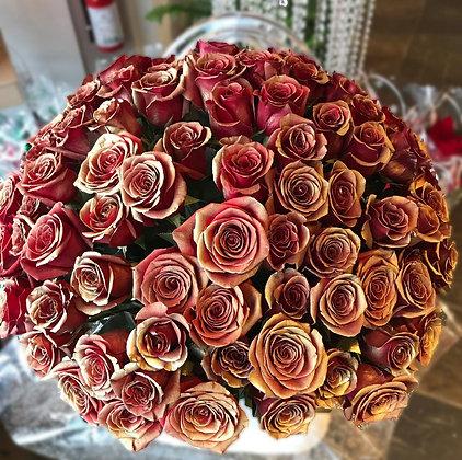 99 Roses Gold Sprayed
