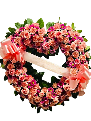 Heart Wreath - Forever Pink