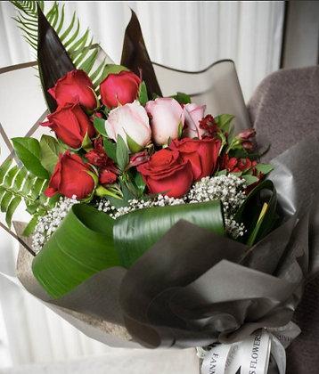 9 Rose Bouquet