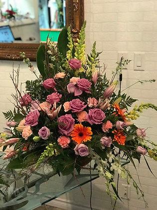 Basket - 12 Roses & Blooms