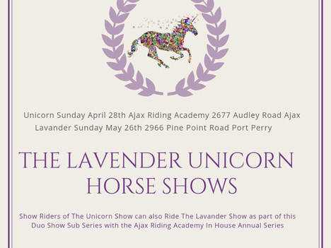 The Lavender & Unicorn Shows.