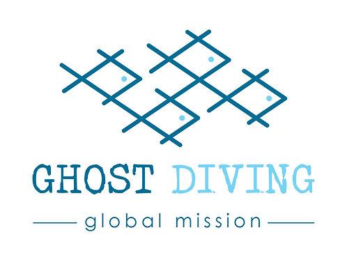 Ghost Diving Logo Sticker (White)