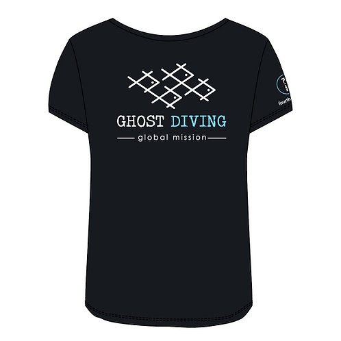GHOST DIVING T-Shirt by Fourth Element (Women's/Black)