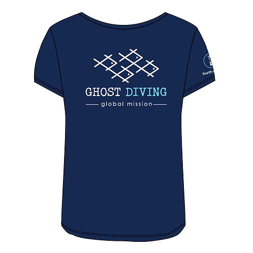 GHOST DIVING T-Shirt by Fourth Element (Women's/Navy)