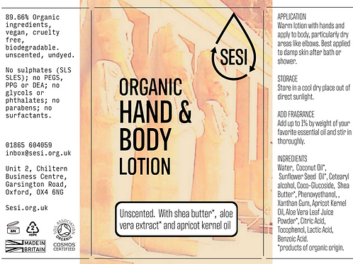 SESI Organic Hand & Body Lotion