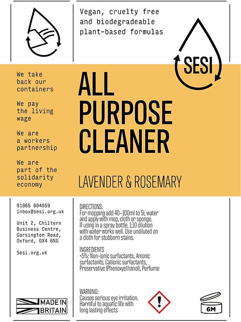 SESI Lavender & Rosemary, Cleaner