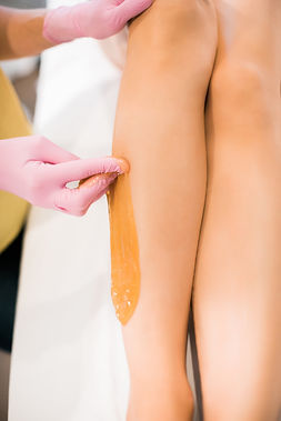 sugaring hair removal. Sugar Wax. Leg sugaring
