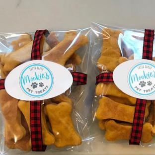 Mookie's Treats with Holiday Ribbon
