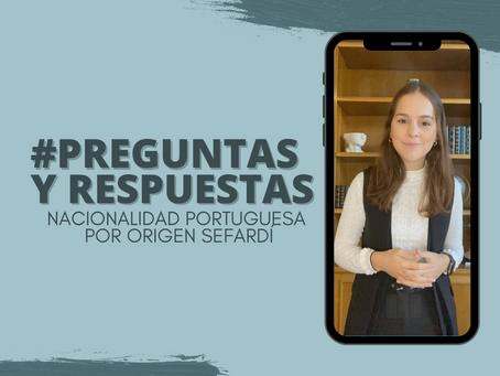 Preguntas y Respuestas de la Nacionalidad Portuguesa por origen Sefardí