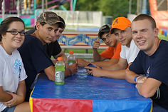 Teens in Refreshment Tent.JPG
