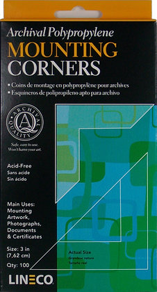"""Clear Mounting Corners 3"""""""