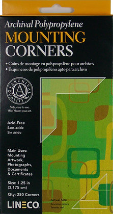 """Clear Mounting Corners 1 1/2"""""""