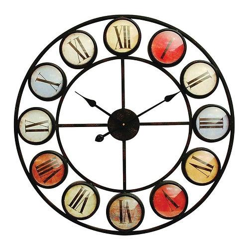 Smartie Glass Iron Wall Clock