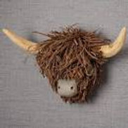 Wall Mounted Highland Cow Head Voyage Maison