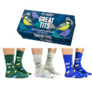 Mens Novelty Socks - Great Tits
