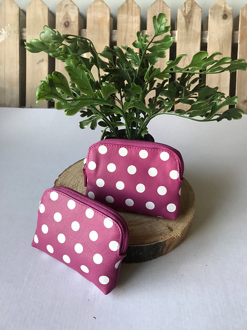 Coin Purse - Pink Spotty