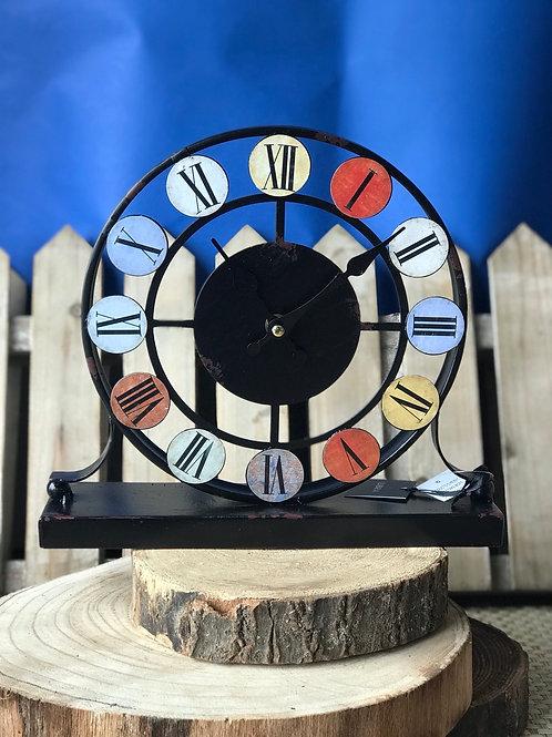 Smarty Coloured Disc Iron Mantel Clock