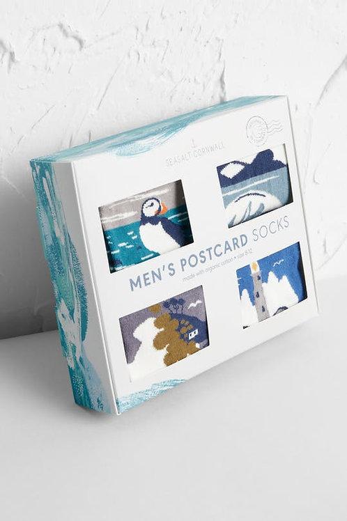 Seasalt Mens Postcard Socks, 4 in box