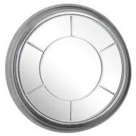 Large Circular Foil Bevel Mirror