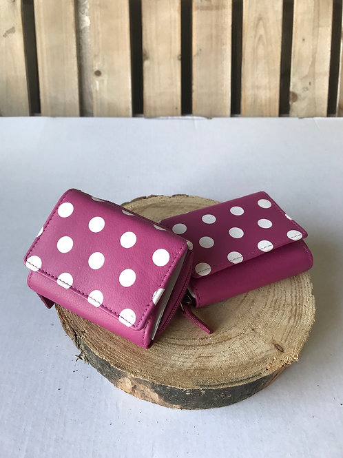 Wallet Purse Small - Pink Spotty