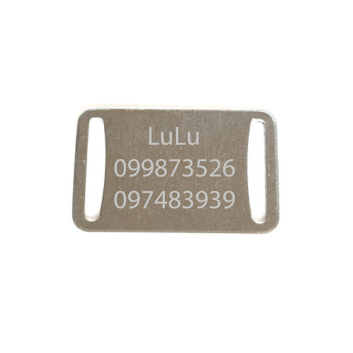 Placa de gato para collar XS 012