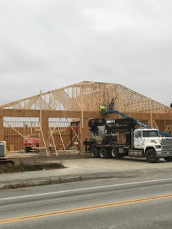 Fire Station- trusses started