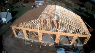 Fire Station- trusses up