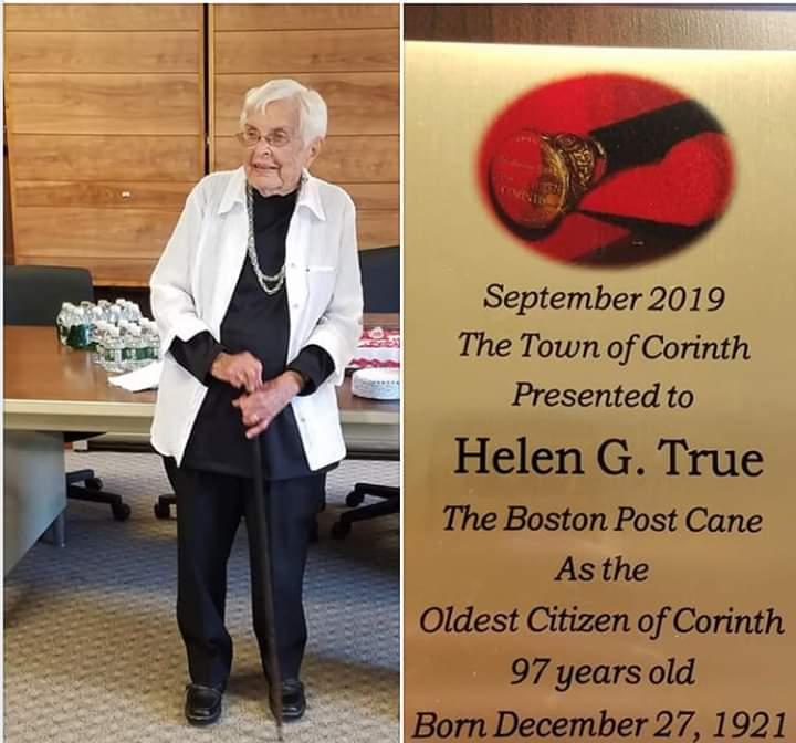 Helen True - Boston Post Cane Holder