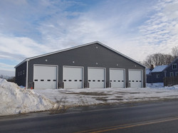 Fire Station with front siding