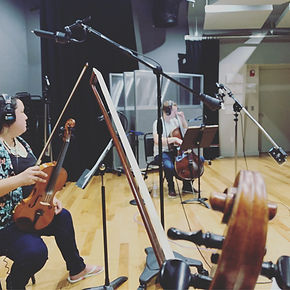 String Quartet Recording Session, Disney Studios, Orlando, FL