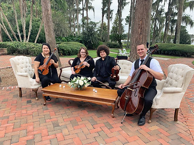 String Quartet, wedding, cocktail party, dinner hour, Orlando, FL, Cypress Grove Estate House