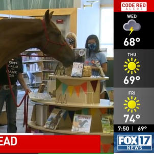 Horse helps inspire Kentucky kids to read