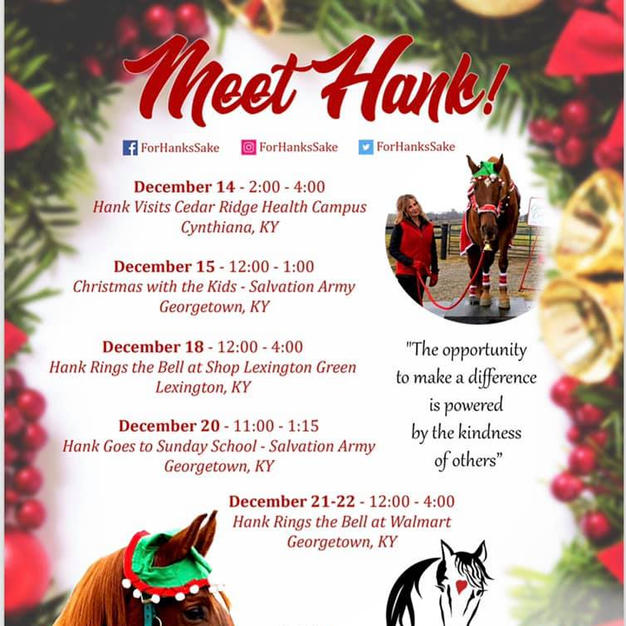 Two More Chances to Meet Hank, Help Salvation Army