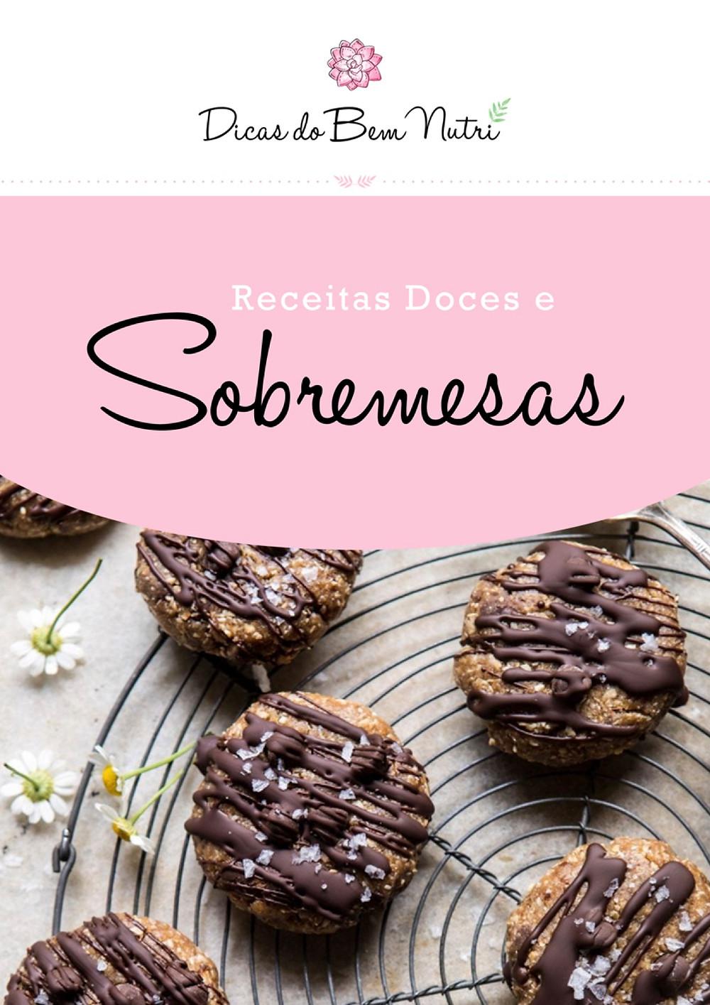 Capa E-Book Receitas Doces e Sobremesas