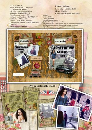 Carnet intime-Londres 1983