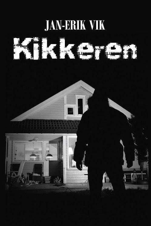 Forsidebilde av boken Kikkeren skrevet av Jan-Erik Vik. Novellesamling med krim.