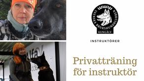 Privatträning för instruktör