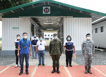 AFP receives Emergency Quarantine Facility from DPWH
