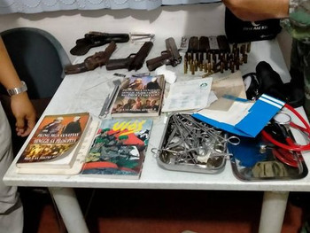 Top NPA Couple of Central Negros Front along with their staff falls