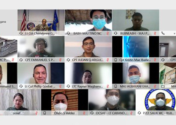 Filipino, American forces hold virtual Global Health Engagement