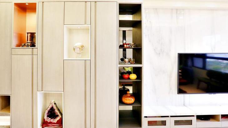 Feeling室內設計 | 木作結合系統櫃 打造三房二廳完美居住空間 - 轉自雪倫情報局