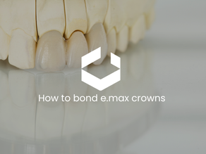 How to bond e.max crowns