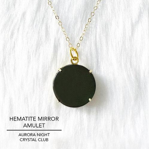 Hematite Mirror Amulet