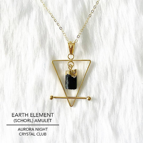 Earth Element (Schorl) Amulet