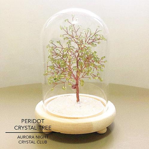 Peridot Crystal Tree